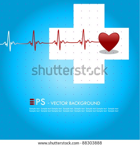 Editable vector medical background with space for your text - stock vector