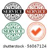 editable vector stamps - service - stock vector