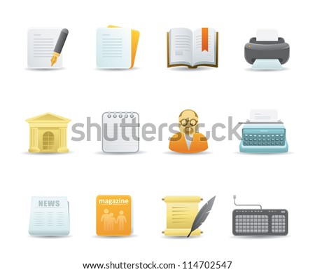 Editing Icons - stock vector