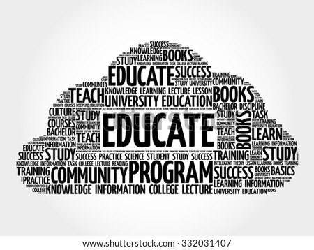 EDUCATE. Word education collage - stock vector