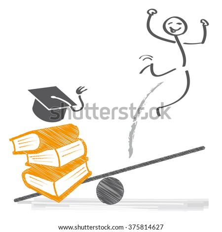 Education and Career - vector illustration - stock vector