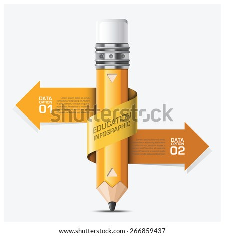 Education And Learning With Spiral Arrow Pencil Step Infographic Vector Design Template - stock vector