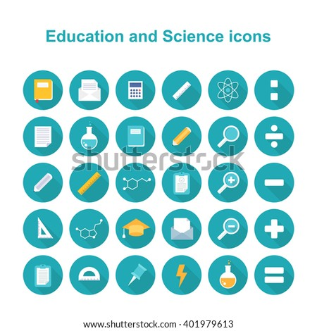 education and science icons. vector illustration - stock vector