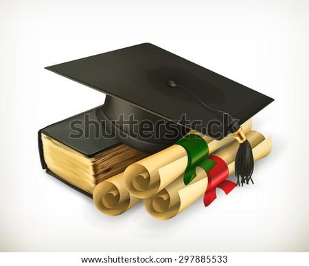Education and Training, retro vector icon - stock vector