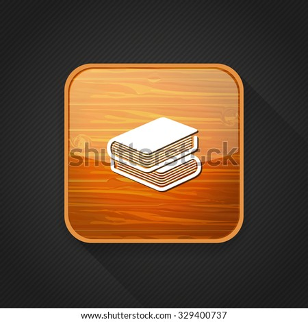 education books   icon - stock vector