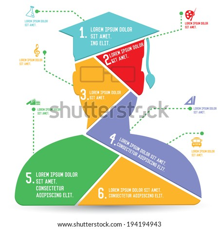 Education Charts,Infographics design,vector - stock vector