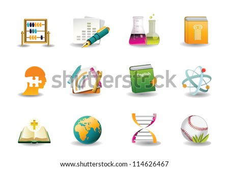 Education Classes Icons - stock vector