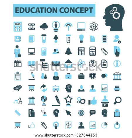 education concept icons - stock vector