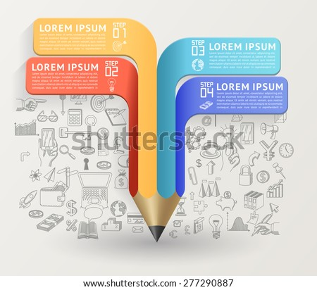 Education concept with pencil. Can be used for layout, diagram, web design, etc, EPS 10, contains transparency. - stock vector