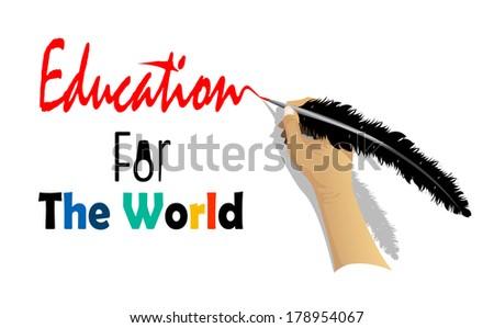 Education for World - stock vector