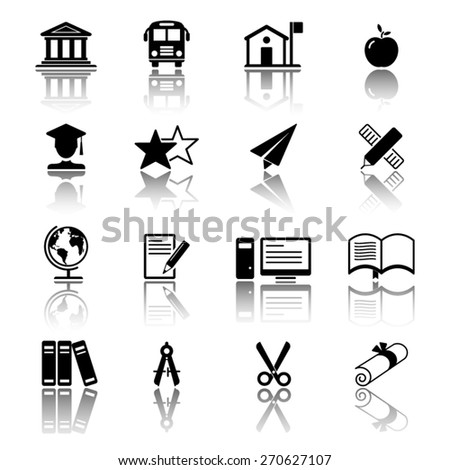Education Icon set - stock vector