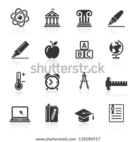 Education Icons set 2. Vector Illustration. More icons in my portfolio. - stock vector