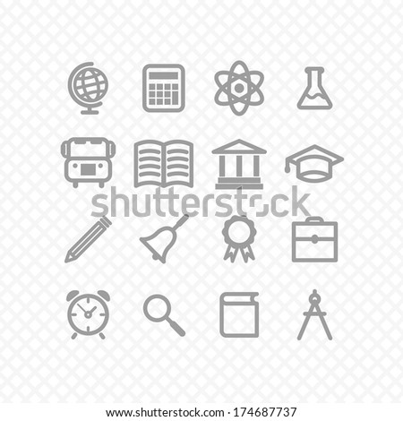 education icons. vector eps8 - stock vector
