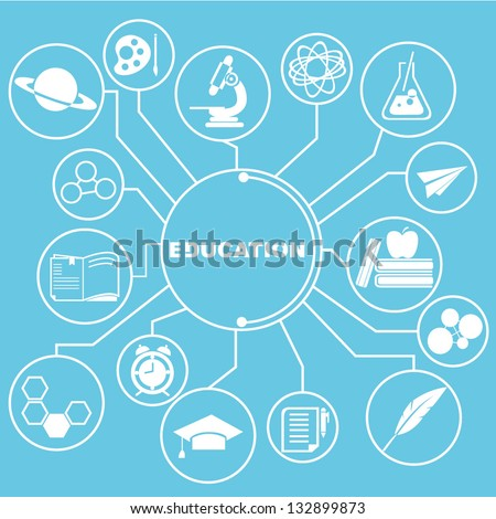 education network, education info graphics - stock vector