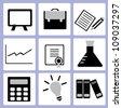 education, school icon set - stock vector