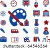 education & school signs. vector - stock vector