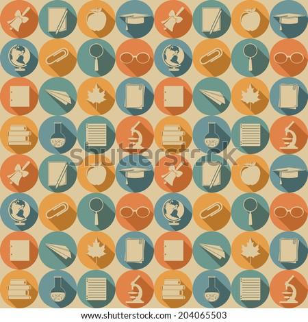 Education seamless pattern. Vector illustration, EPS 8. - stock vector