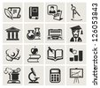 Education. Set of icons. - stock vector