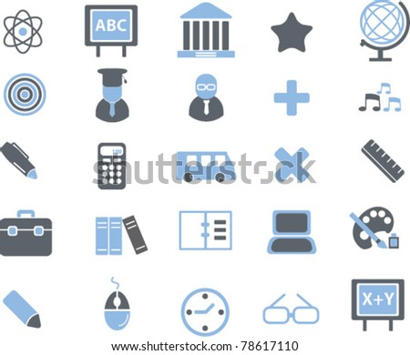 education signs, icons, vector - stock vector