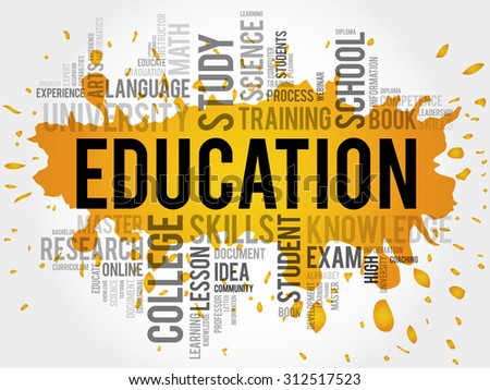 Education word cloud concept - stock vector