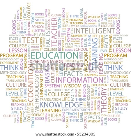 EDUCATION. Word collage on white background. Vector illustration. - stock vector