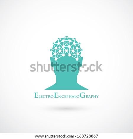 EEG symbol - vector illustration - stock vector
