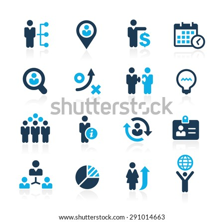 Efficiency and Business Strategies // Azure Series - stock vector