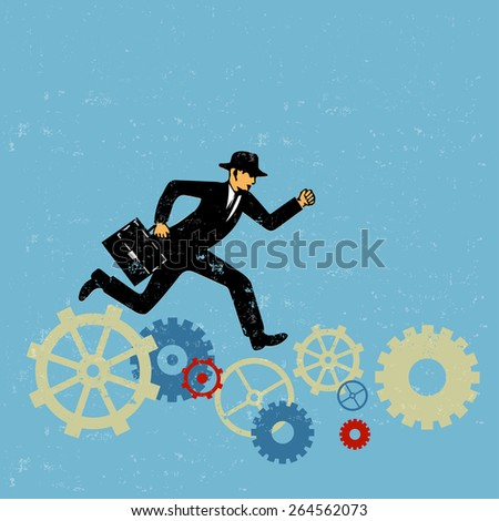 Efficiency in business concept - stock vector