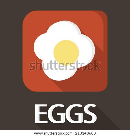Egg icon in flat design - stock vector