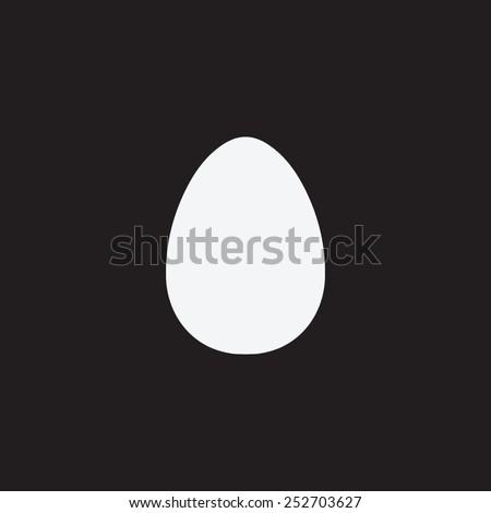 Egg vector icon. - stock vector