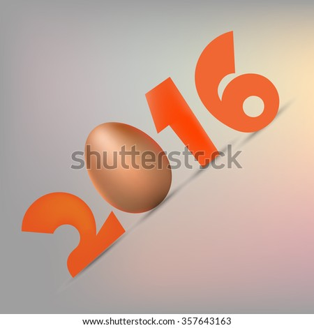 Eggs background - year 2016 - stock vector