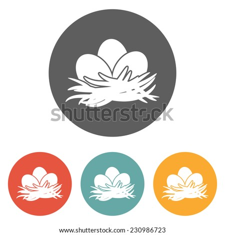eggs icon - stock vector
