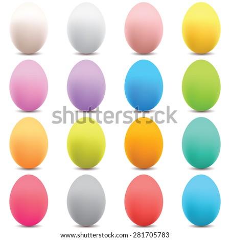 eggs set - stock vector