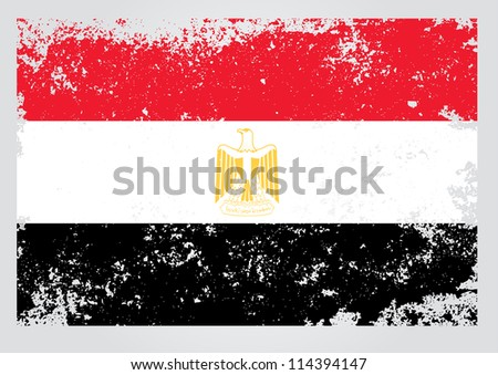 Egypt  flag in grunge - stock vector