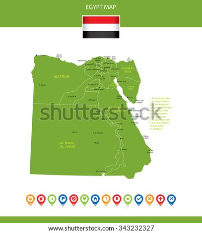 Egypt Map - stock vector