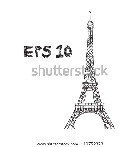 Eiffel Tower Black And White Drawing Eiffel Tower Drawing Stock
