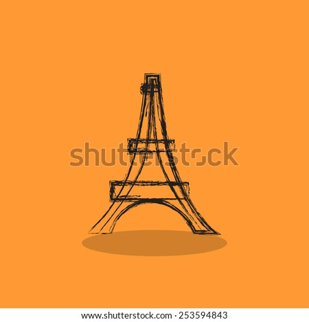 Eiffel Tower, Web icon. vector design - stock vector
