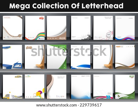 Eighteen Business Style Corporate Identity Leterhead Template.  - stock vector