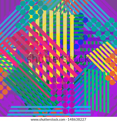 Eighties Stripe background - stock vector