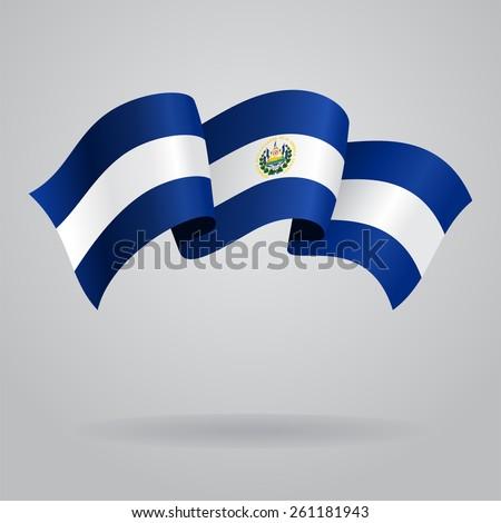 El Salvador waving Flag. Vector illustration Eps 8. - stock vector