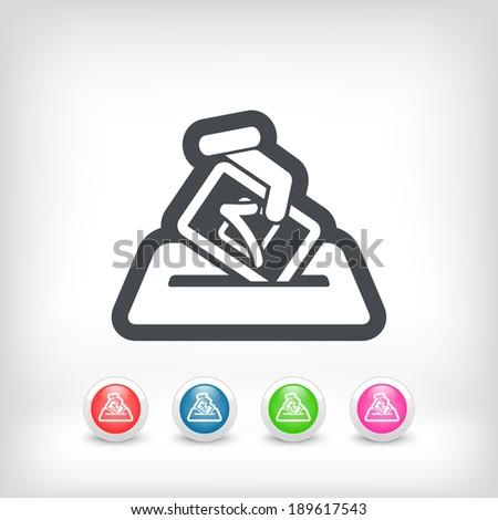 Election concept icon - stock vector