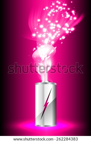electric battery energy, vector illustration, dark pink Light Abstract Technology background for computer graphic website internet. wave. silver - stock vector