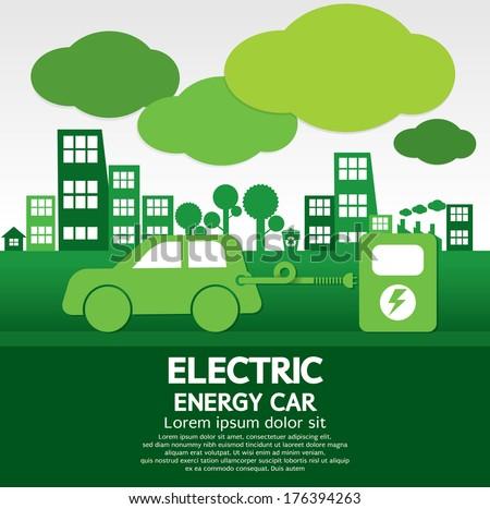 Electric Energy Car - stock vector