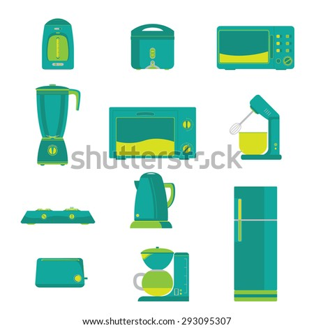 Electric Home Kitchen appliance Vector - stock vector