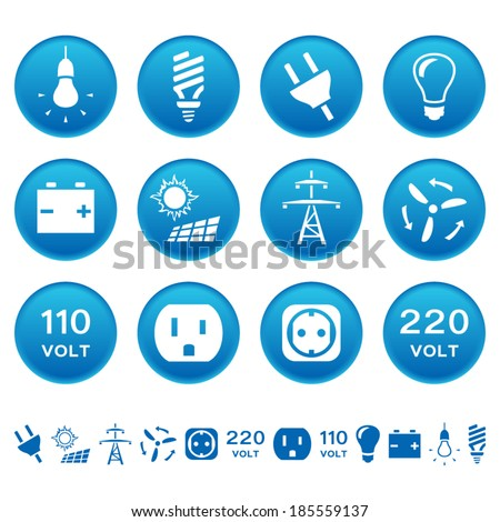 Electric icons - stock vector