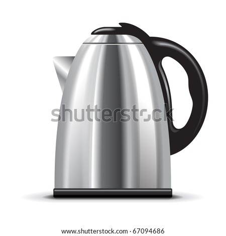 Electric kettle - stock vector
