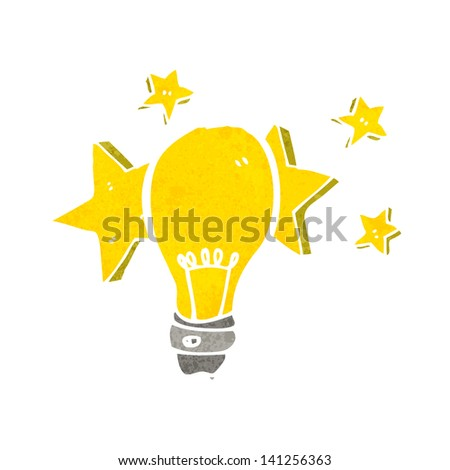 electric light bulb symbol - stock vector