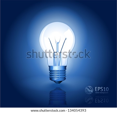 Electric light bulb vector abstract. - stock vector