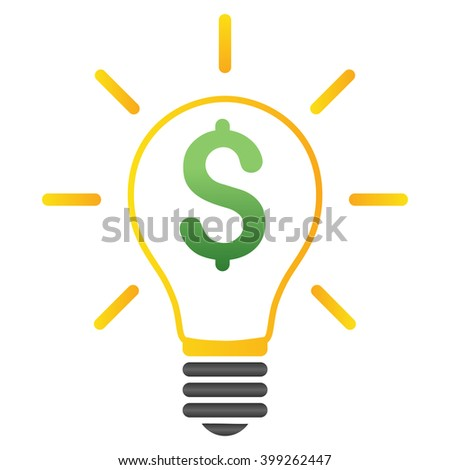 Electric Light Price vector toolbar icon for software design. Style is a gradient icon symbol on a white background. - stock vector