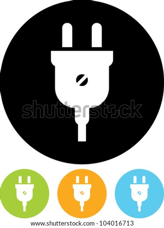 Electric plug - Vector icon isolated - stock vector